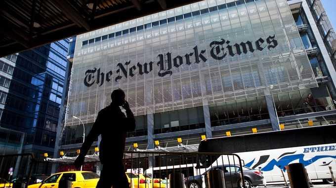 Nhiều khả năng báo điện tử New York Times đã bị tin tặc Syria tấn công - Ảnh: Getty Images