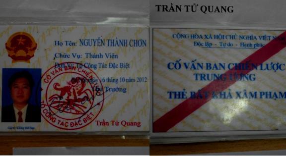 Nguyễn Thành Chơn và chiếc thẻ