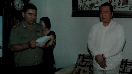 Cơ quan điều tra đọc lệnh bắt đối tượng Nguyễn Thành Chơn