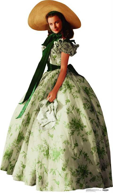 Nàng Scarlett O'Hara kiều diễm trong Cuốn theo chiều gió.