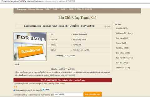 N. tung tin rao bán nhà riêng của Tổng Giám đốc Công ty Việt-Séc
