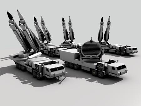 Mô hình một tiều đoàn phòng không S-200 với 8 tên lửa đơn