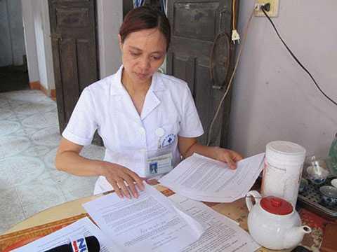 Chị Nguyệt, người tố cáo sai phạm tại bệnh viện đa khoa Hoài Đức. Ảnh: Internet