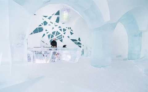 Quán bar băng Icebar Jukkasjarvi, Lapland, Thụy Điển