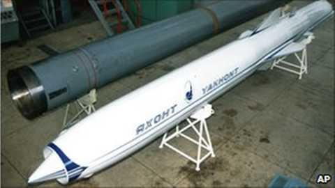 Tên lửa chống tàu chiến P-800 Yakhont