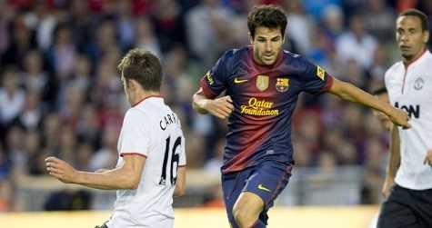 Fabregas không có nhiều cơ hội được đá chính tại Nou Camp