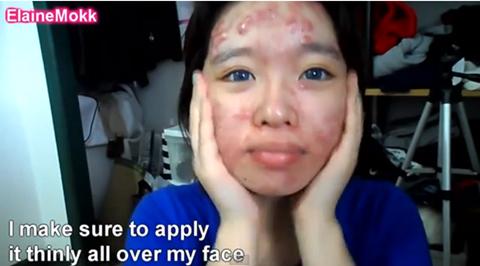 Khuôn mặt cô gái trước khi trang điểm