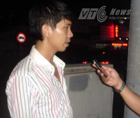 Anh Khiêm trả lời PV VTC News. Ảnh: Hạnh Phương