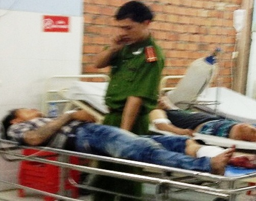 Đối tượng Trí đang được công an giám sát chặt chẽ tại bệnh viện