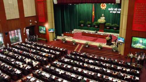Toàn cảnh hội trường kỳ họp thứ 5 Quốc hội khóa XIII