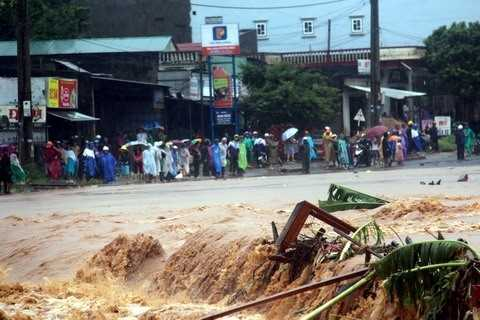 Bão số 8 gây mưa lớn ở nhiều nơi