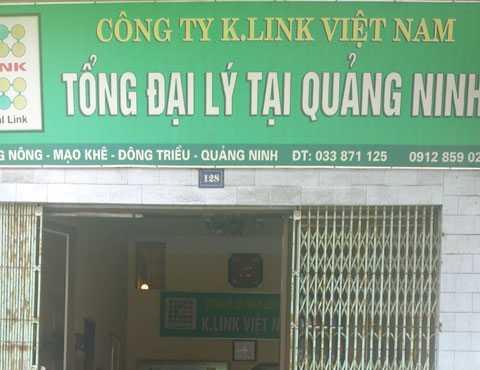Tổng Đại lý của K-link ở Quảng Ninh