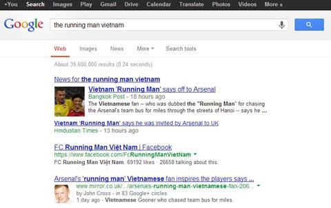 Người chạy bộ hiện đã cực kỳ nổi tiếng (Ảnh chụp trên Google vào lúc 10h sáng ngày 19/7)
