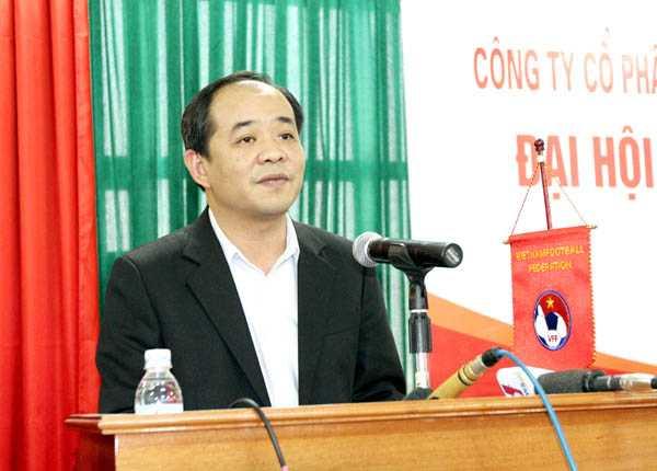 Thứ trưởng Bộ VH, TT&DL Lê Khánh Hải là một trong 2 ứng viên cho chức Chủ tịch VFF khóa VII. Ảnh: VSI