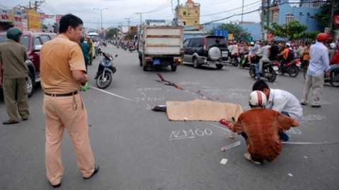 Hiện trường vụ tai nạn khiến một người tử vong