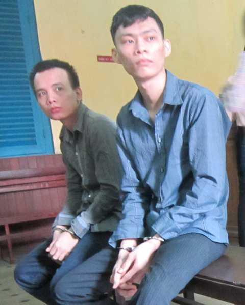 Ngô Đình Chiến và Đỗ Văn Luân tại tòa.