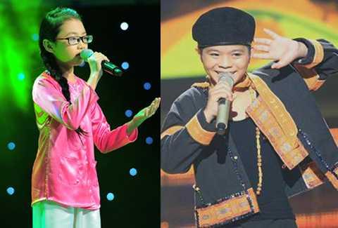 Phương Mỹ Chi, Quang Anh - hai trong số những giọng hát nhí rất được yêu thích của năm 2013.