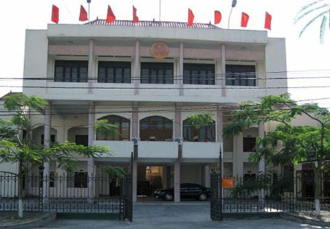 Trụ sở UBND huyện An Dương, nơi ông Nguyễn Ngọc Cải làm phó chủ tịch UBND huyện, vừa bị tạm đình chỉ công tác