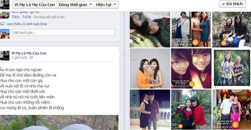 Một trang mạng dành riêng cho những người   yêu mẹ. Tại đây, mọi người cùng chia sẻ những câu chuyện nhỏ cảm động và   hình ảnh chụp chung với mẹ yêu.