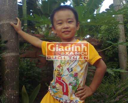 Cháu Trần Huy Hoàng lúc chưa mất tích (Ảnh: Phúc Nhi).