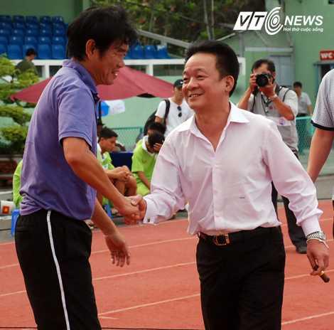 Bầu Hiển và HLV Phan Thanh Hùng là hai chữ H rất quan trọng trong thành công của Hà Nội T&T (Ảnh: VSI)