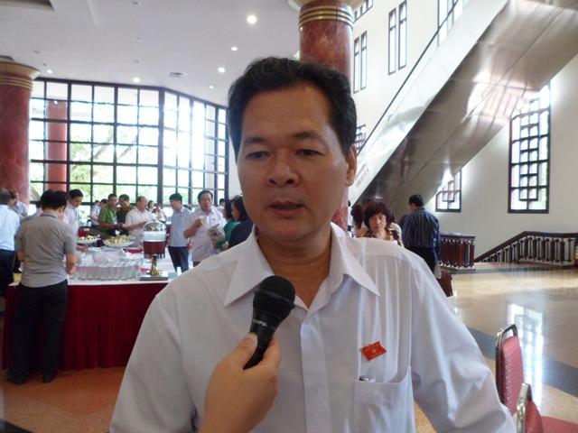 Ông Trương Miinh Hoàng, Phó trưởng đoàn ĐBQH tỉnh Cà Mau. Ảnh. Xuân Hải.