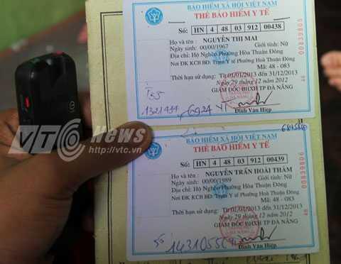 Thẻ bảo hiểm hộ nghèo của bà Mai và Thắm