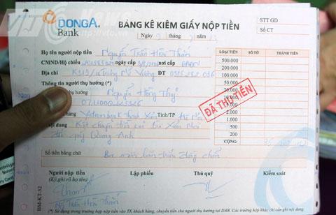 Theo bà Mai, số tiền ủng hộ được chuyển trả và chi tiêu đúng mục đích