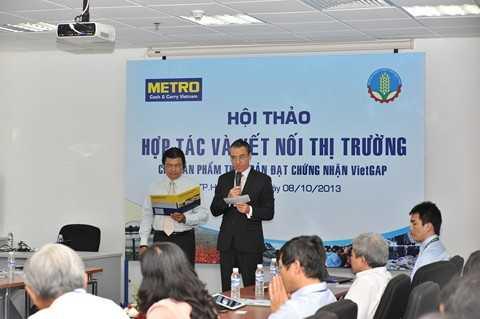 Ông Philippe Bacac, TGĐ công ty Metro Cash & Carry khai mạc hội thảo