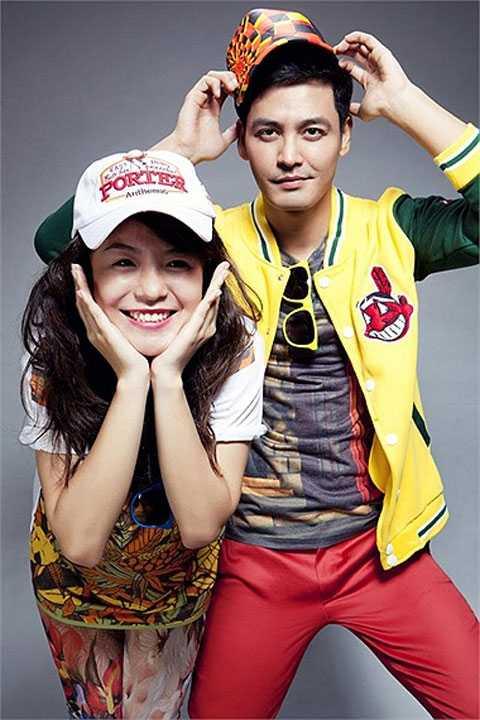 MC và bạn hát Thái Trinh trong Cặp đôi hoàn hảo