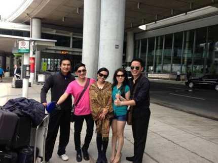 Phương Thanh ,Quang Hà và ekip
