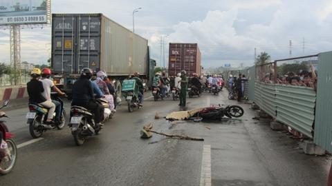 Hiện trường vụ tai nạn xảy ra vào chiều ngày 2/6/2013 (ảnh: N.D)