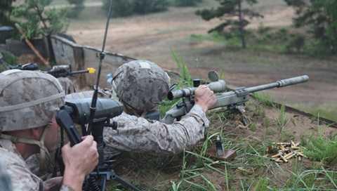 Lính thủy đánh bộ Mỹ ở Latvia - Ảnh: RIA Novosti
