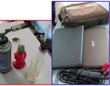 Túi xách, laptop, dây chuyền vàng... là những vật dễ bị cướp giật nhất. (Ảnh minh họa)