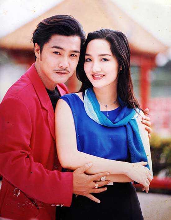 Giáng Mi bên cạnh Lý Hùng - cặp đôi vàng của Điện ảnh Việt Nam những năm 90.