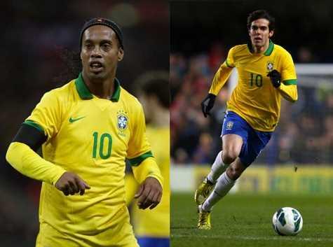 Ronaldinho và Kaka hết hy vọng trở lại ĐT Brazil