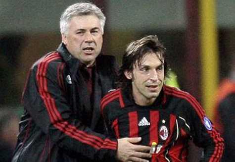 Pirlo đã thành danh dưới sự dẫn dắt của Ancelotti