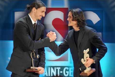Cavani sẽ đối tác của Ibrahimovic trên hàng công PSG