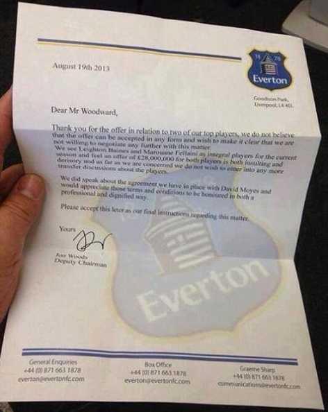 Bằng chứng tố MU keo kiệt của Everton