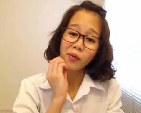 Khuôn mặt biểu cảm, hài hước thường thấy của cô gái trẻ này trong các Vlog gần đây