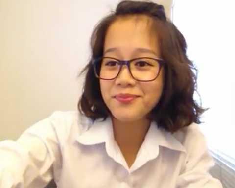 Ngụy Thiên An cũng là một nữ sinh xinh đẹp, đáng yêu