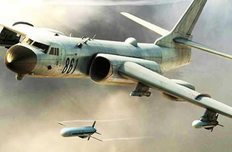 Hình ảnh minh họa H-6K phóng tên lửa hành trình CJ-10