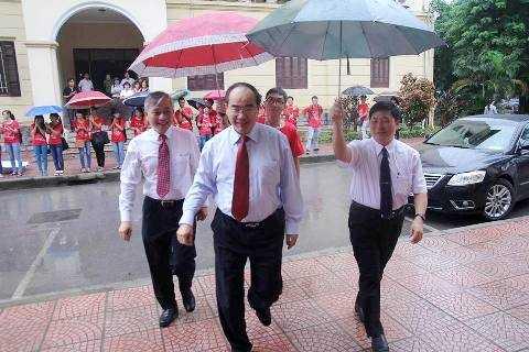 Sáng nay (4/9), Phó Thủ tướng Chính phủ Nguyễn Thiện Nhân đã dự Lễ khai giảng cùng thầy và trò trường ĐH Y Hà Nội (Ảnh: Minh Đức)