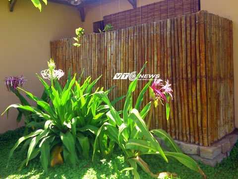 Thiết kế có phần kém an toàn của nhà tắm lộ thiên tại Seahorse Resort Phan Thiết.