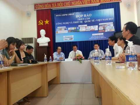 Quang cảnh buổi họp báoVITE EXPO 2013. Ảnh: My My