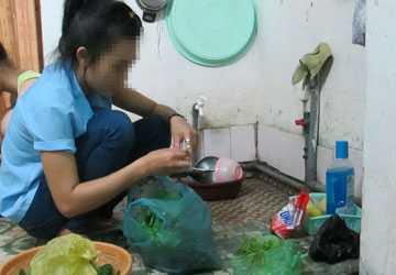 Không ít SV trở thành người giúp việc nhà khi ở nhà trọ miễn phí. (Ảnh mang tính minh họa)