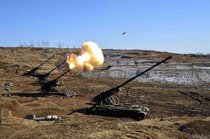 Pháo tự hành của quân đội Triều Tiên