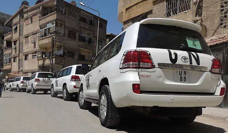 Xe của LHQ tại Syria