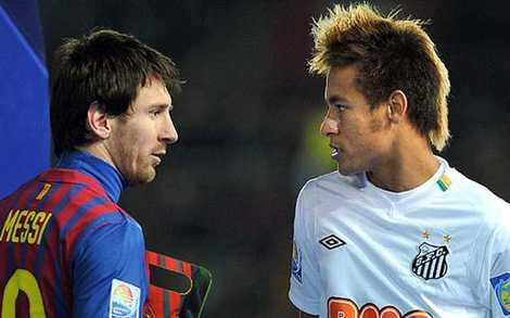 Messi và Neymar: Hai cầu thủ xuất chúng của Barca.