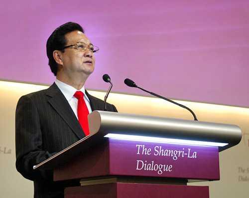 Thủ tướng Nguyễn Tấn Dũng phát biểu dẫn đề Đối thoại Shangri-la